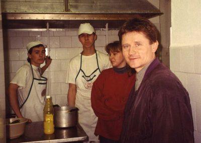 A Méteres konyha Hegyi Bélával és a tanulókkal